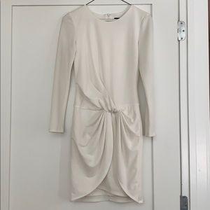ABS by Allen Schwartz White Dress Size XS